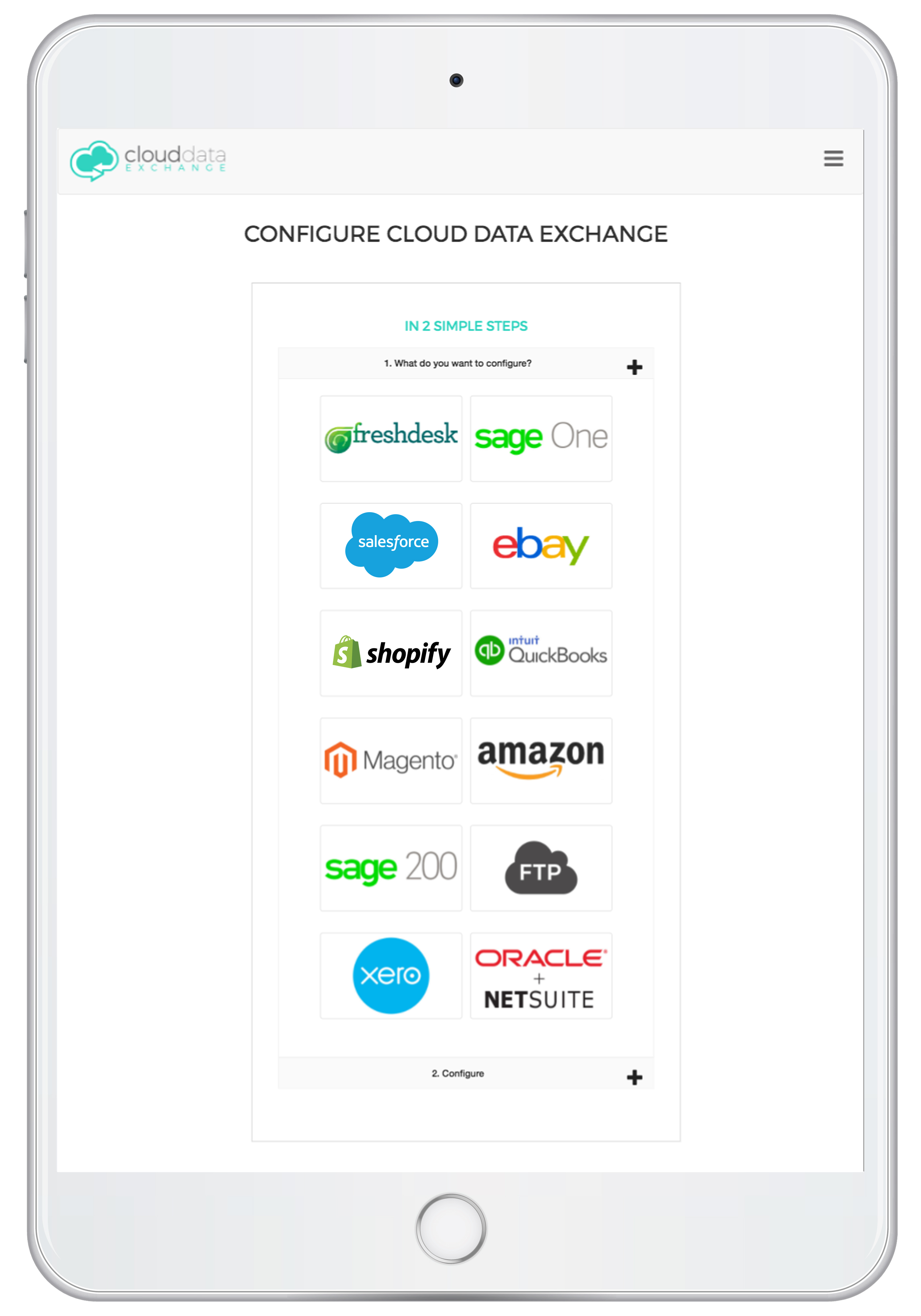 Cloud Data Exchange enabled on any device iPad, iPhone, Windows and Android Devices.